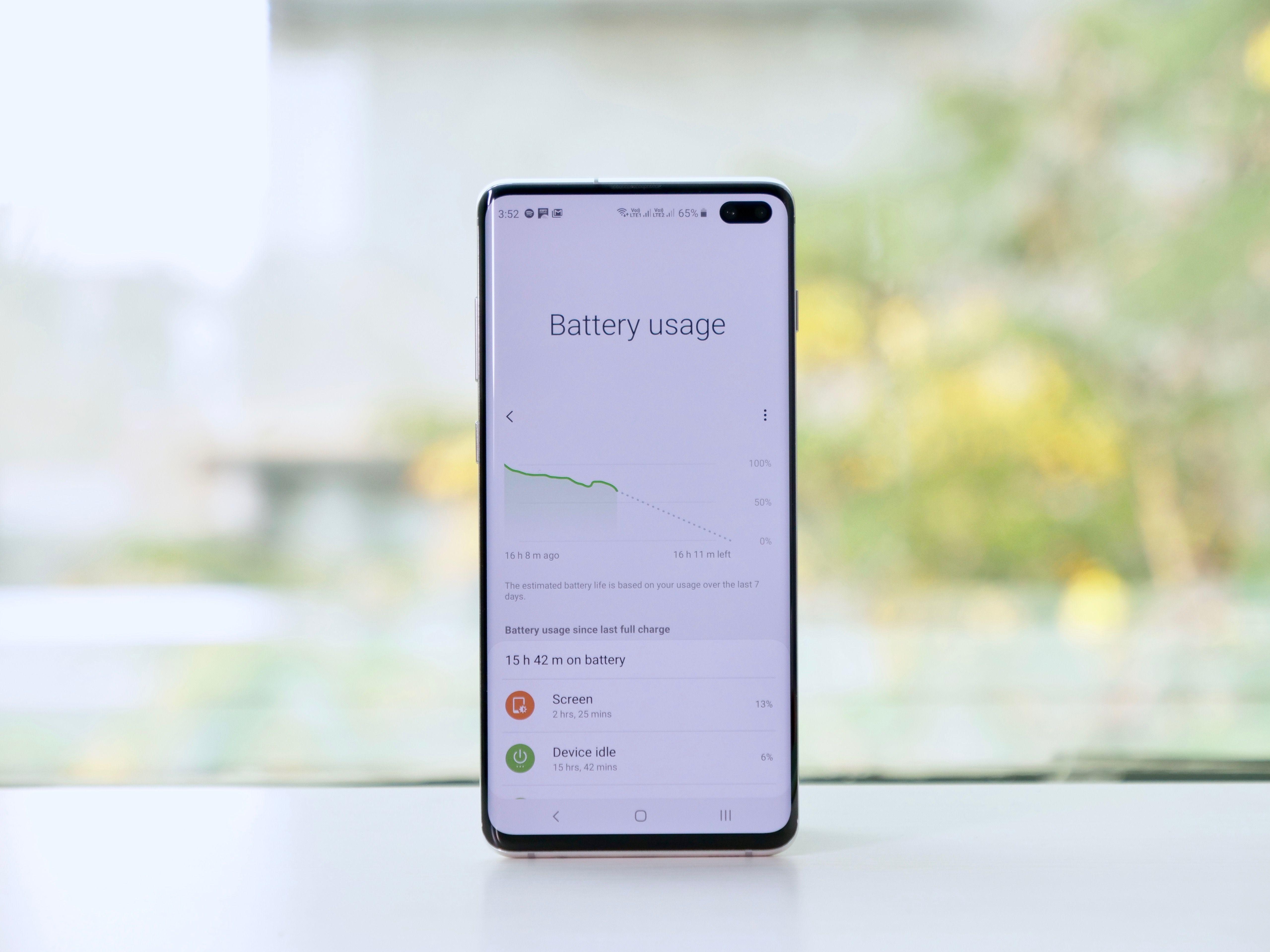 Samsung Galaxy S10 Plus Battery Life Performance