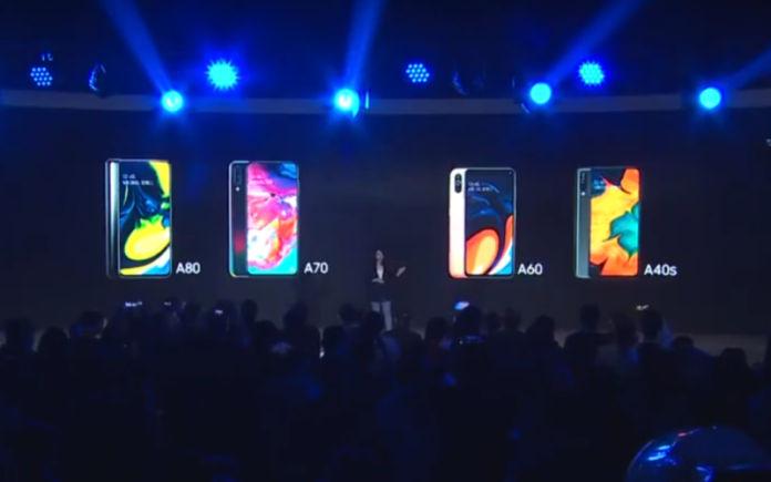 Samsung Galaxy A80 A70 A60 A40s Launch China