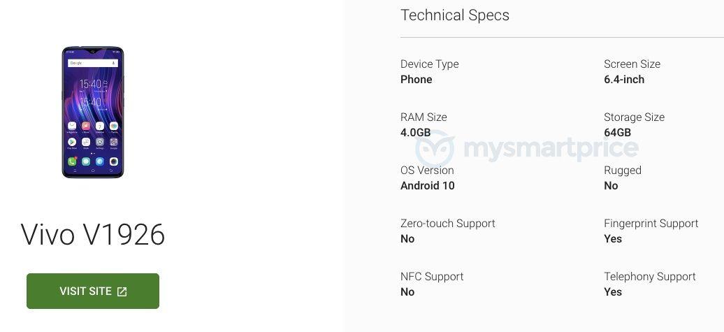 Vivo  Y21 (V1926) Android Enterprise