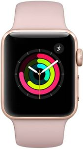 Apple Watch Series 3 GPS -Gold Aluminium Case with Pink Sand Sport Band 42mm Price in India