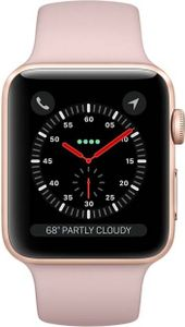 Apple Watch Series 3 Gold Aluminium Case with Sport Band 38 mm Price in India