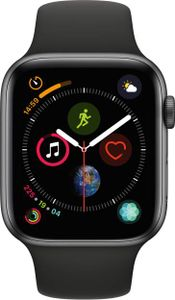 Apple Watch Series 4 GPS Space Gray Aluminum Case with Black Sport Band 4.4cm Price in India