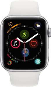 Apple Watch Series 4 GPS Cellular Silver Aluminium Case with White Sport Band 44mm Price in India