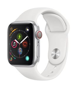 Apple Watch Series 4 GPS Cellular Silver Aluminium Case with White Sport Band 40mm Price in India