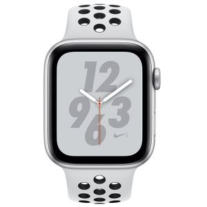 92a5dd074cd Apple Watch Series 4 GPS Nike Plus Silver Aluminum Case with Pure Platinum  Black Nike Sport Band 4.4cm Price in India