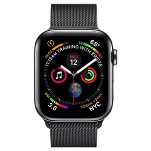 Apple Watch Series 4 GPS Cellular Space Black Stainless Steel Case with Space Black Milanese Loop 44mm Price in India