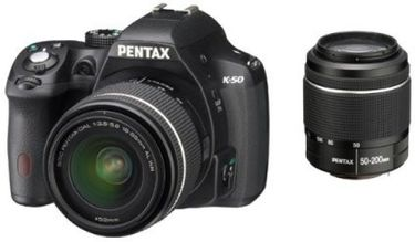 Pentax K-50 (with 18-55mm + 50-200mm Lens Kit) Price in India