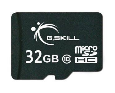 G.Skill 32GB MicroSDHC Class 10 Memory Card (With Adapter) Price in India