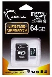 G.Skill 64GB MicroSDXC Class 10 UHS-1 Memory Card (With Adapter) Price in India