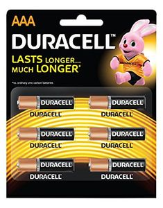 Duracell AAA Alkaline Battery (6 Pcs) Price in India