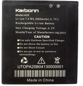 Karbonn A25 Original Mobile battery Price in India