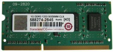 Transcend JetRam (JM1333KSU-1G) DDR3 1GB Laptop RAM Price in India
