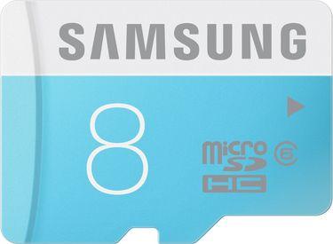 Samsung 8GB MicroSDHC Class 6 (24MB/s) Memory Card Price in India