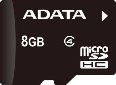 AData 8GB MicroSD Class 4 Memory Card Price in India