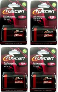 Tuscan 6LR61 Ni-Mh 9v 250mAh (4pcs) Rechargeable Battery Price in India