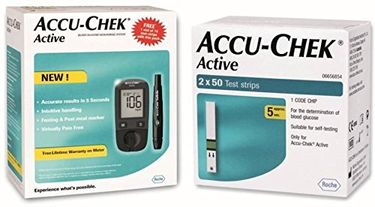 Accu-Chek Active Glucometer (With 160 Strips) Price in India