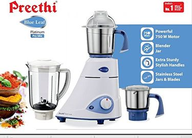 Preethi Platinum - MG 139 750W Juicer Mixer Grinder (4 Jars) Price in India