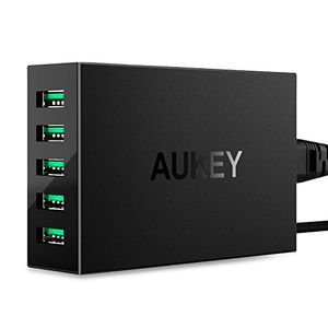 Aukey PA-U33 5-Port (50W / 10A) USB Wall Charger Price in India
