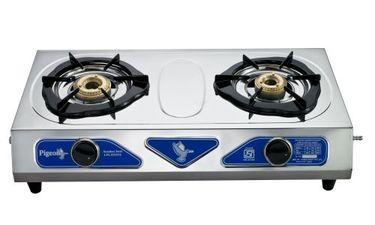 Pigeon Stainless Steel Duo Gas Cooktop (2 Burner) Price in India