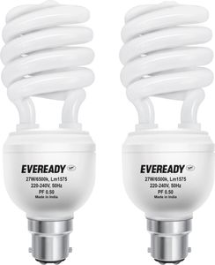 Eveready ELS 27W CFL Bulb (White, Pack of 2) Price in India
