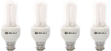 Bajaj Ecolux 2U CDL 11W CFL Bulb (Cool Day Light, Pack of 4) Price in India