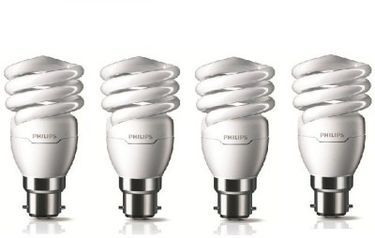 Philips Tornado B22 15W CFL Bulb (Cool Day Light, Pack of 4) Price in India
