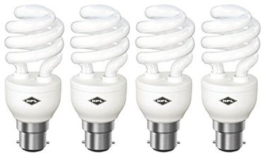 HPL Spiral B22 20W CFL Bulb (White, Pack of 4) Price in India