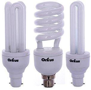 Orkus B22D BHK 20W, 27W and 15W CFL Bulb (White, Pack of 3) Price in India