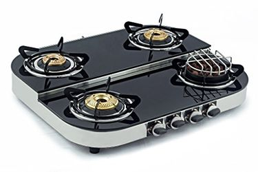 Sunshine Meethi Angeethi Steel Gas Cooktop (4 Burner) Price in India