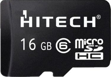 Hitech 16GB MicroSDHC Class 6 Memory Card Price in India
