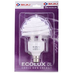 Bajaj Spiral Ecolux 35 Watt CFL Bulb (White) Price in India