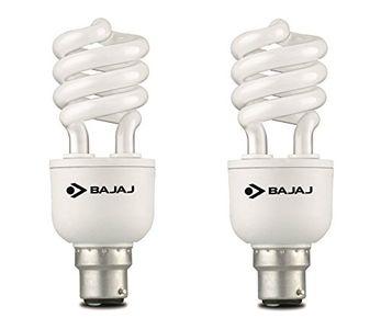 Bajaj Spiral Retrofit Miniz 15 Watt CFL Bulb (Cool Day Light,Pack of 2) Price in India