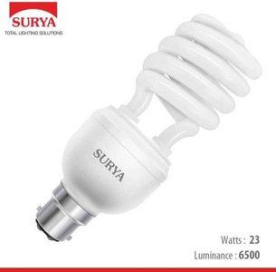 Surya 23 Watt Spiral CFL Bulb (White,Pack of 4) Price in India