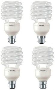 Philips Tornado Spiral 23 Watt CFL Bulb (Cool Day Light,Pack of 4) Price in India