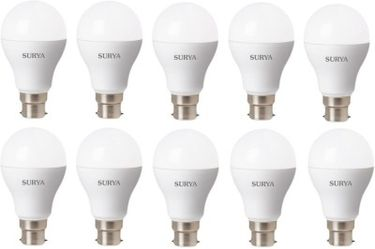 Surya 12W White 1080 Lumens LED Bulbs (Pack Of 10) Price in India