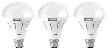 Oreva 10W ECO LED Bulb (Warm White , pack of 3) Price in India