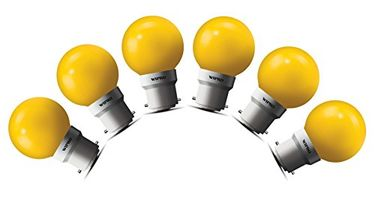 Wipro 0.5W LED Bulb (Yellow , pack of 6) Price in India