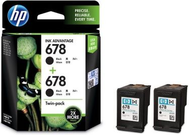 HP 678 Twin Pack Black Ink Price in India