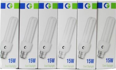 Crompton Greaves 15 W 2U CFL Bulb (Cool Daylight, Pack of 6) Price in India