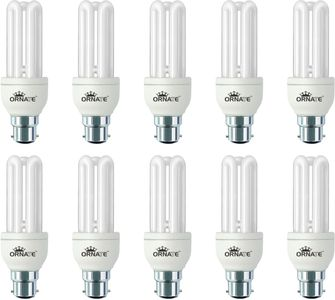 Ornate 20 W CFL Bulb (White, Pack of 10) Price in India