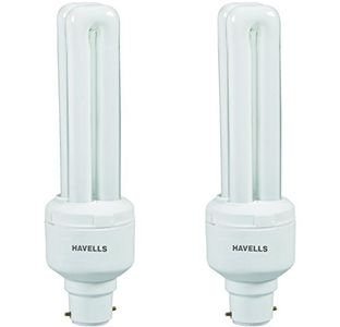 Havells DU B-22 15W CFL Bulb (Cool Day Light, Pack of 2) Price in India