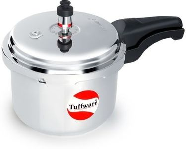 Tuffware AL50 Aluminium 5 L Pressure Cooker (Outer Lid) Price in India