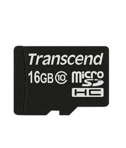 Transcend 16GB MicroSDHC Class 10 Memory Card Price in India