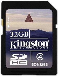Kingston 32GB MicroSDHC Class 4 Memory Card Price in India