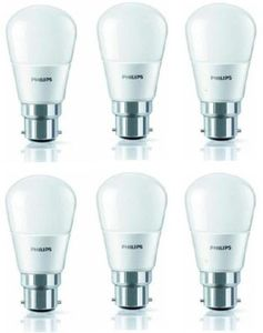 Philips 4W 350L LED Bulb (White, Pack of 6) Price in India