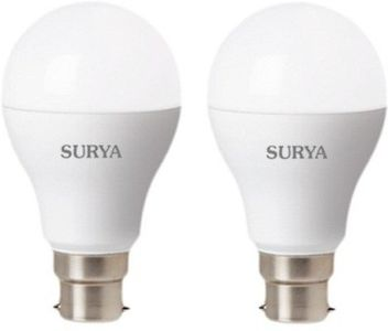 Surya B22D Neo 12 W 1080 Lumens LED Bulb (White, Pack of 2) Price in India