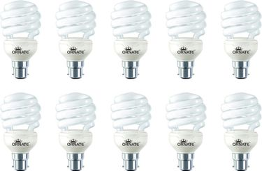 Ornate 27W Spiral CFL Bulb (White, Pack of 10) Price in India