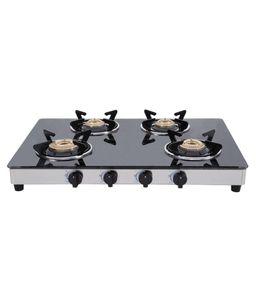 Elica Vetro CT-694 AI 4 Burner Gas Cooktop Price in India