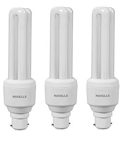 Havells B-22 15W CFL Bulbs (White, Pack of 3) Price in India