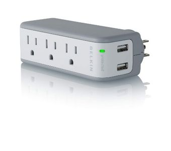 Belkin BZ103050-TVL 3-Outlet Mini Swivel Wall Charger Price in India